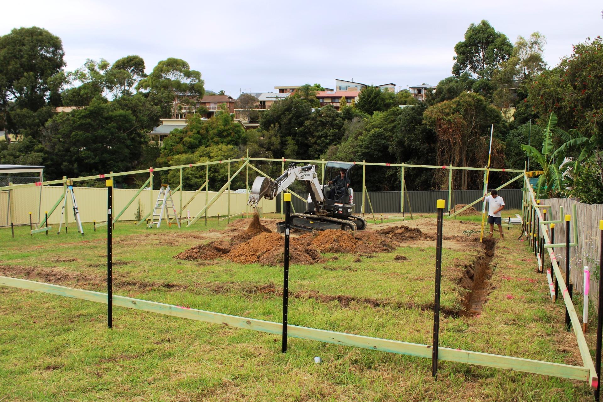 Excavation underway