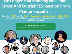 Join FREE Plantar Fasciitis Summit Oct 26-29 2020