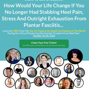 Join FREE Plantar Fasciitis Summit Oct 26-29 2020