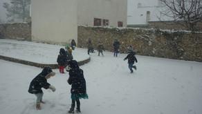 L'école sous la neige !
