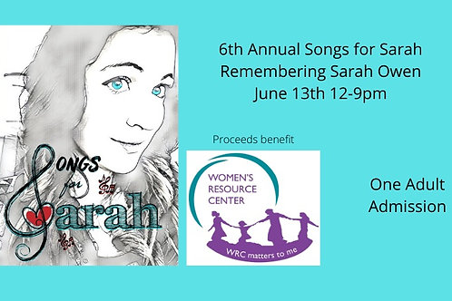 Songs for Sarah 2020 Adult Admission