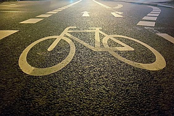 high-angle-view-of-bicycle-lane-93163381