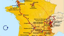 VIRTUAL TOUR DE FRANCE STAGE UPDATES