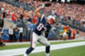 Gronk spking the ball.