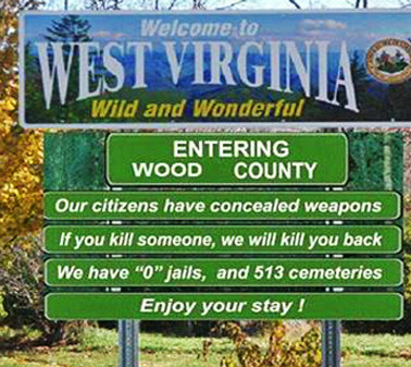 west virginia: WHAT A WELCOME