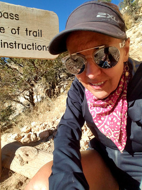 Beth at the end of Rim-to-Rim