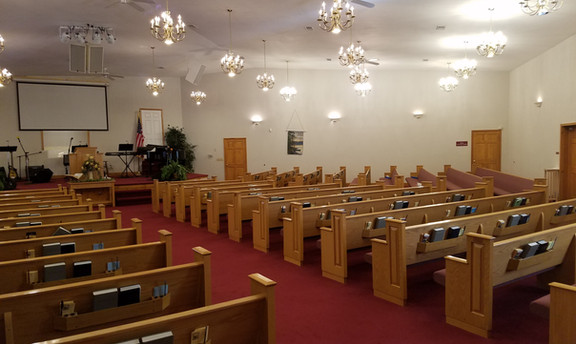 Right side of worship center