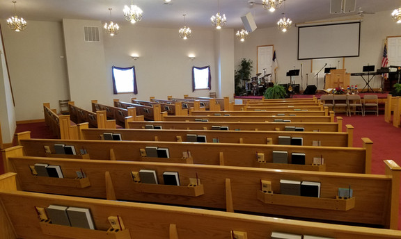 Left side of worship center