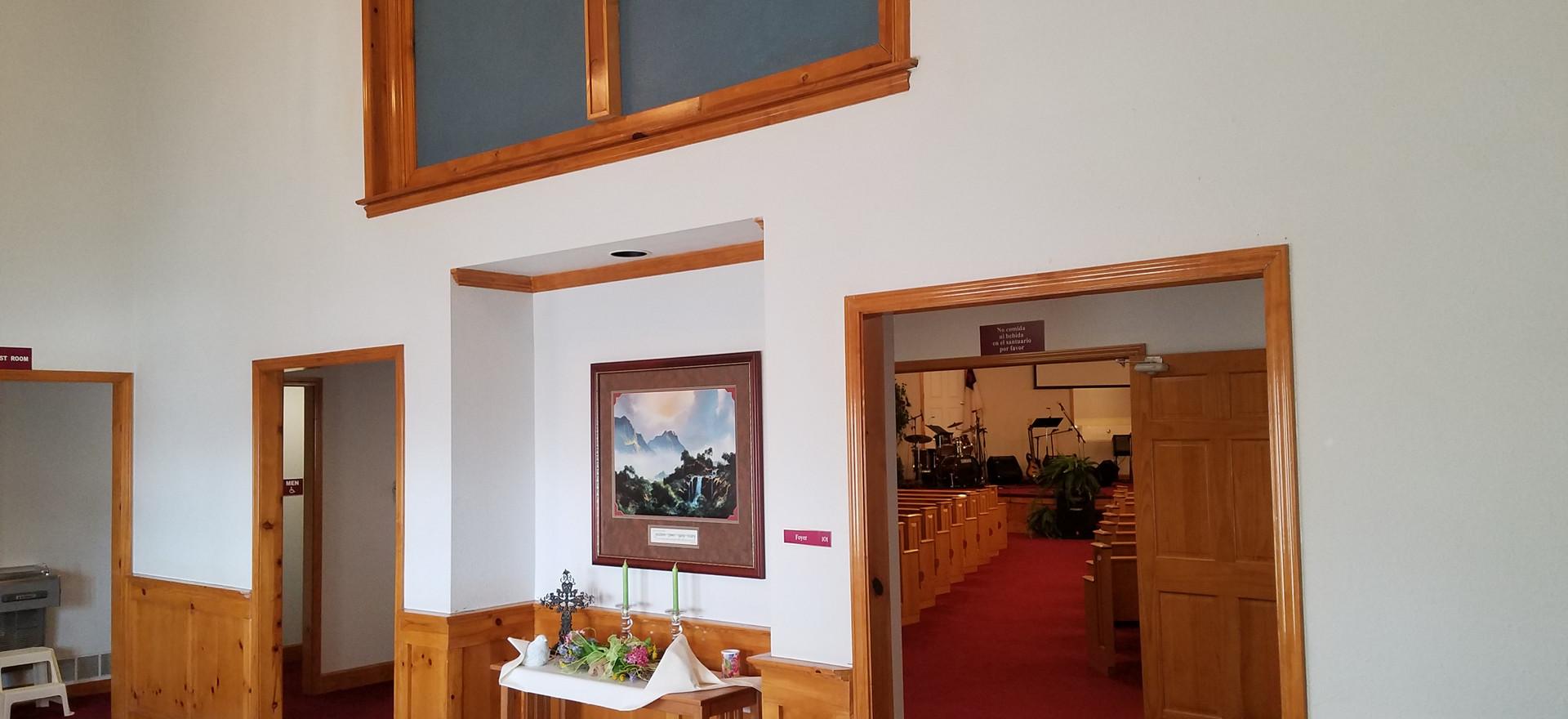 Entrance to worship center