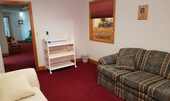 Worship viewing room for babies & toddlers