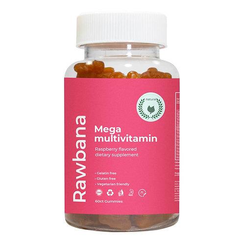 Raw Bana- Premium Mega Multivitamin - 60 Gummies