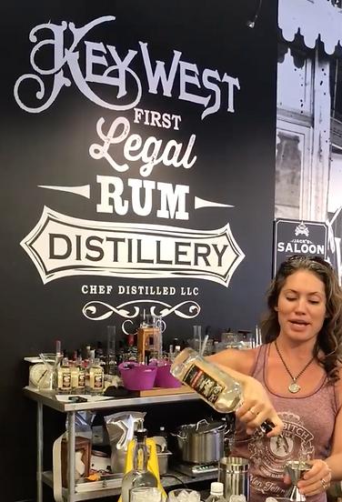 Crystal Menta Key West Legal Rum Distill