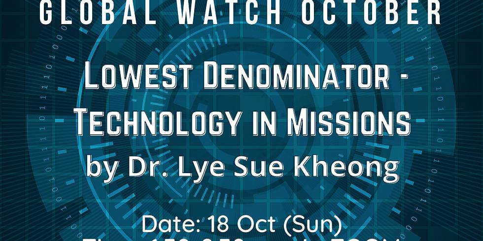 Global Watch OCTOBER