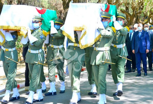 Algerian fighters' skulls buried in Martyrs' Square at El-Alia Cemetery
