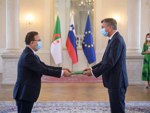 H.E Mr Ali Mokrani handed over the credentials letters to the President of the Republic of Slovenia