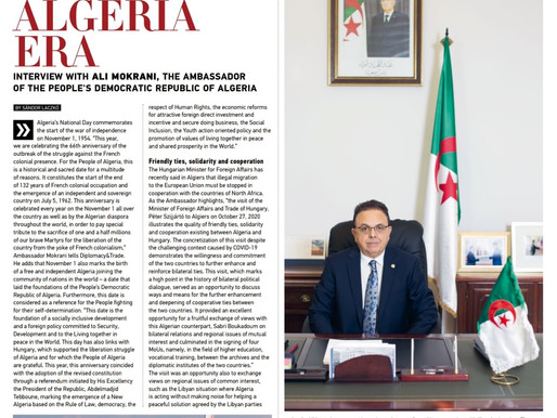 Diplomacy and Trade Magasine Interview.