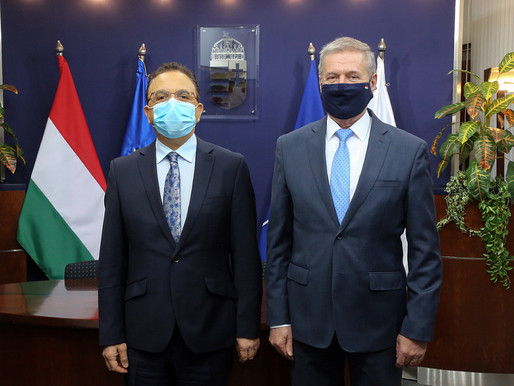 H.E Ambassador Ali MOKRANI was received by the Hungarian Minister of Defense