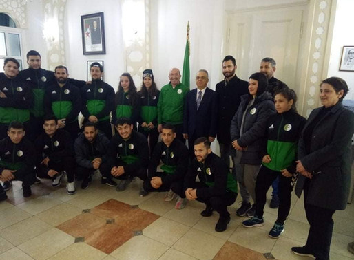Reception in honour of the Algerian athletes