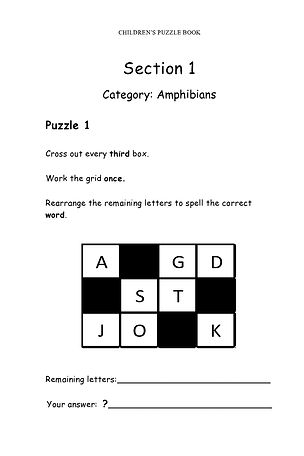 Children's Puzzle Book Animals & Insects -Page 3