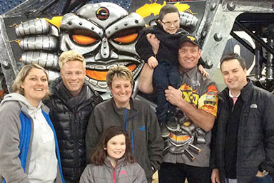 Wicked Awesome Wishes Grants Seven Year-Old Caiden a Monster of an Experience