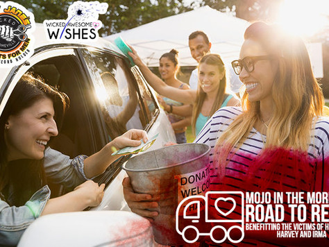 Wicked Awesome Wishes & Mojo in the Morning's Road to Relief benefitting the victims of Hurr