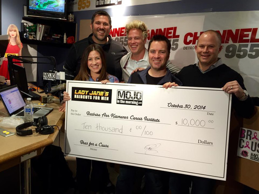 Bras for a Cause: LJ, Mojo in the Morning Donate to Karmanos