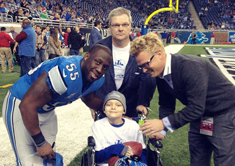 Cancer Fighter Justin is Welcomed to Ford Field