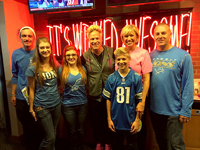 Breast Cancer Survivor Treated to Detroit Lions Game