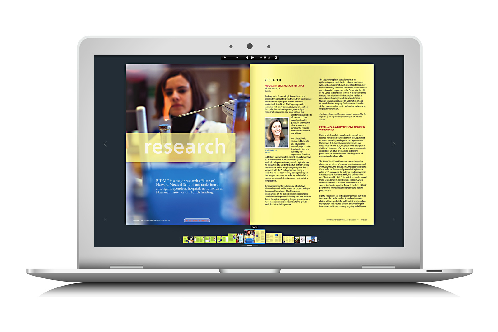 BIDMC interactive pdf flipbook