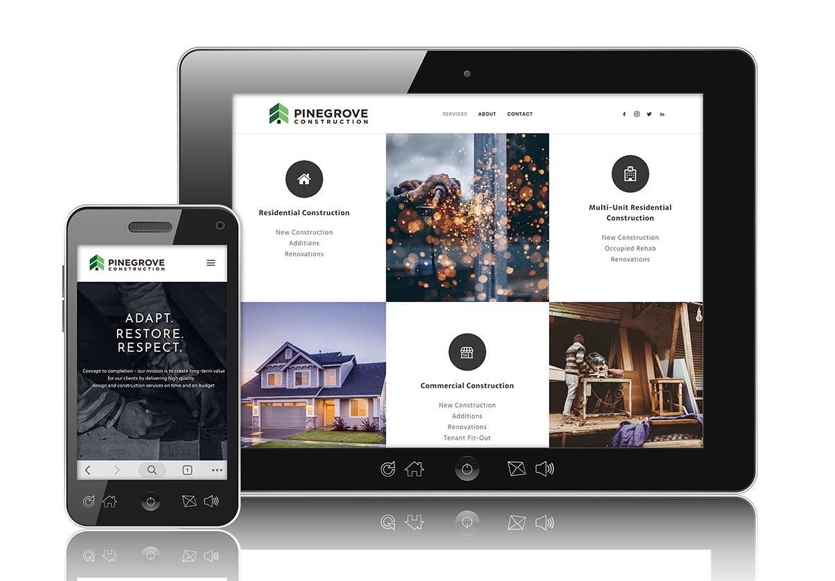 Pinegrove Construction Website