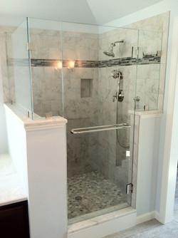 standard walk in shower