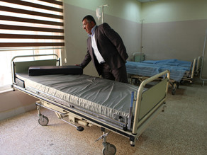 One 40' container of hospital beds, boots, and clothes to refugees in Iraqi Kurdistan