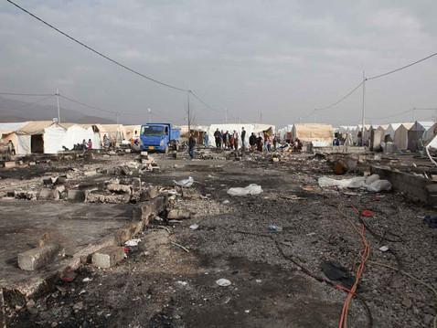 Fire at Bersive Refugee Camp 1