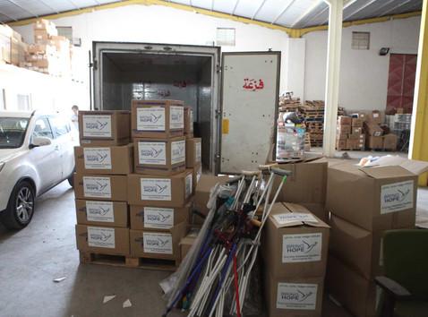 Khansa Hospital in Mosul Receives Truckloads of Aid