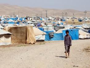 Seven-year-old refugee child still struggling from burn