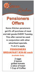Tuesday Pensioners Day