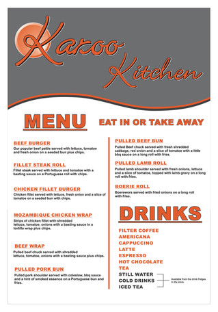Join us for lunch, sit in or take-away!