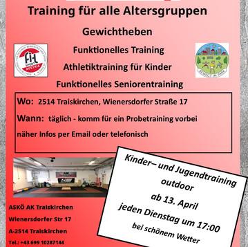 Outdoor-Training für Kinder und Jugendliche