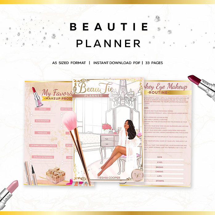 BeauTie Planner Mockup Graphic Alternate