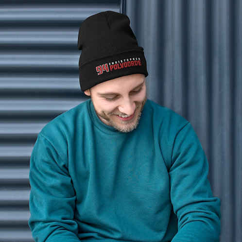 Christopher Polvoorde Embroidered Beanie