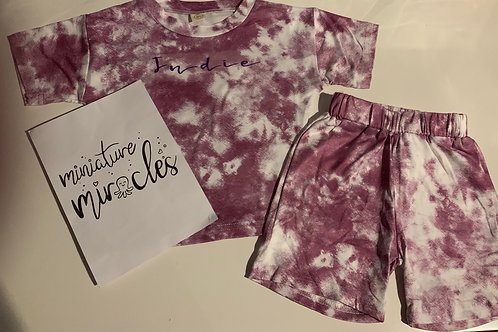 Purple tie dye effect pjs