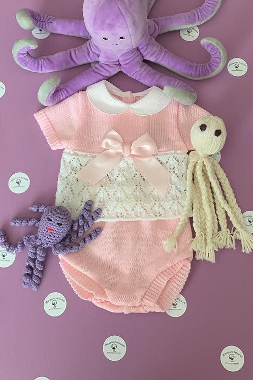 Pink lace set.
