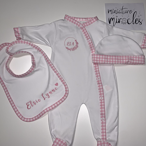 Checked baby set