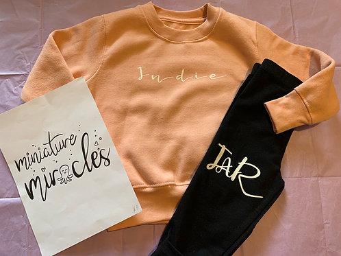 Personalised jumper and leggings set