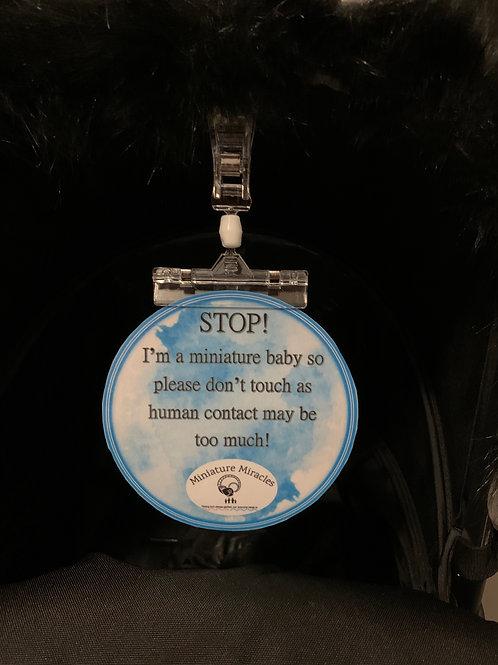 Pram/ Car seat sign.