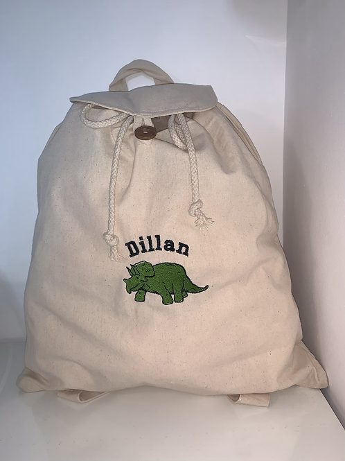 Embroidered Cotton back pack