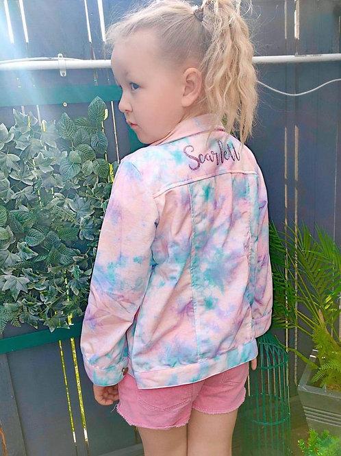 Tie Dye Personalised Jacket