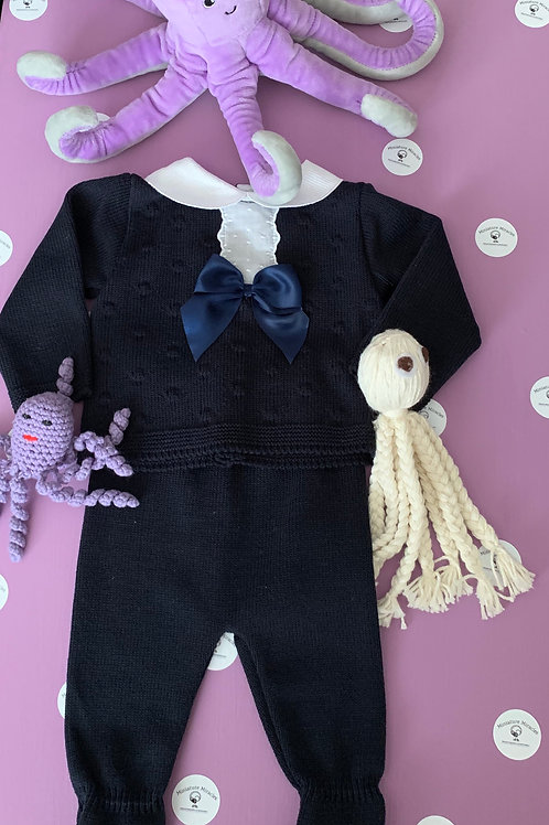Navy 2pcs suit