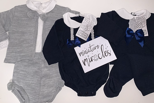 Grey and navy package