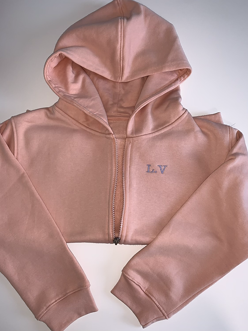 Embroidered zip up
